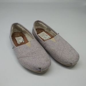 Toms Women's Classic Wool Slip-On's  cool color